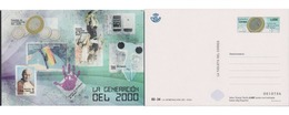 Ref. 617992 * MNH * - SPAIN. 2019. THE GENERATION OF 2000. EURO IN SPAIN, HUMAN GENOME AND 11-M . LA GENERACIÓN DEL 200 - 1931-Heute: 2. Rep. - ... Juan Carlos I