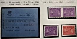 SVEZIA 1962 POSTE LOCALI URBANE SET + LIBRETTO  MNH - Nuovi