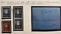 SVEZIA 1962 LEGGI COMUNALI SET + LIBRETTO  MNH - Nuovi