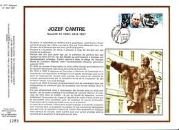 16,577 Bel CEF PTT Soie 577 463 2389    Jeunesse Musique Jozef Cantre (1890-1957) CS - Carte Souvenir FDC Feuillet Spéci - Souvenir Cards