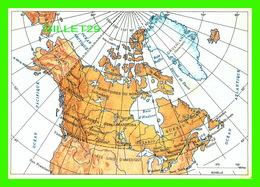 MAP, CARTE GÉOGRAPHIQUE DU CANADA - ÉTABLIE PAR LA DIRECTION DES LEVÉS ET DE LA CARTOGRAPHIE - - Cartes Géographiques
