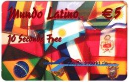 GERMANY Prepaid B-999 - Prepaidmarkt - Flags Of South America - Sample - Germany