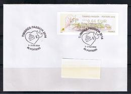ATM, Sur Pli FDC,  LP 0.66€. NABUCCO WINCOR NIXDORF, TIMBRES PASSION-POITIERS 2014 - 2010-... Geïllustreerde Frankeervignetten