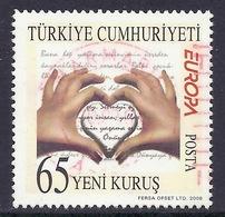 Turkey / Turkiye - 2008 Europa CEPT, Writing Letters, Love, Used - Oblitérés