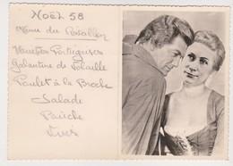 27822  Deux 2 Menus Réveillons 1958 Montage Jean Marais Cinema Paris Match Revue BOULVE Jeanine Jacques Chalon Sur Marne - Menus