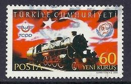 Turkey / Turkiye - 2006 150th Anniversary Turkish Railways, TCDD, Train, Lokomotive, Locomotive, Used - Oblitérés