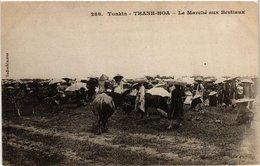 CPA AK VIETNAM Tonkin - Thanh Hoa - Le Marché Aux Bestiaux. (550734) - Vietnam