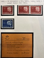SVEZIA 1962 PREMI NOBEL 1902  SET +  LIBRETTO  MNH - Nuovi