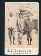 REVOLTA SATARI 3 Assassinos Do TENENTE. Condemned Killers Sattari. Old PHOTO B.F.SOUZA Goa PANGIM Portuguese India 1902 - Fotos
