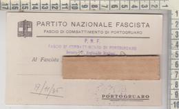 PORTOGRUARO VENEZIA FASCIO DI COMBATTIMENTO  P.N.F. - Venezia (Venice)