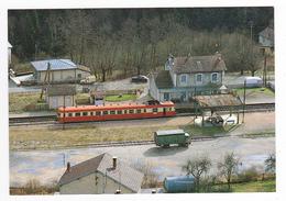 39 Lavans St Lupicin Vers St Claude N°9 Train Autorail X 2863 En Gare 1977 VOIR ZOOM Camion Lamy Citroën 2CV Camionnette - Saint Claude