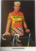 Postcard Rudy Dhaenens - Hitachi-Sunair - 1985 - Ciclismo