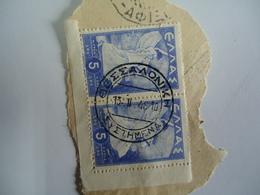 GREECE POSTMARKS ON PAPER   STAMPS  ΘΕΣΣΑΛΟΝΙΚΗ  1948 - Affrancature Meccaniche Rosse (EMA)