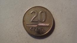 MONNAIE LITUANIE 20 CENTU 1997 - Lithuania