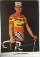 Postcard André Meuwissen - Hitachi-Sunair - 1985 - Ciclismo