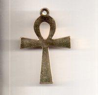 REF MON3  : Pendentif Croix De Vie Egypte 35 Mm Dorée - Accessories