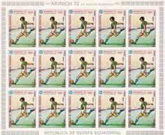 Guinea Ecuatorial Nº Michel 110 En Hoja De 15 Sellos - Guinée Equatoriale
