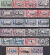 FALKLAND ISLANDS 1938-49 SG #143-63 Compl.set Used Incl. Colour Vars For 1d,2d,3d And 1sh CV £250+ - Falkland Islands