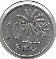 *nigeria 10 Kobo 1973  Km 10.1  Bu/ms65 - Nigeria