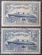 """DF40266/1242 - 1935/1936 - PAQUEBOT """" NORMANDIE """" - N°299 NEUF*(1)/☉(1) - Cote (2020) : 17,50 € - France"""