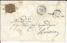 Kirchenstaat Mi 4c  Ponte Lagoscuro 29.2.1856 (bisesto) Per Ravenna - Etats Pontificaux