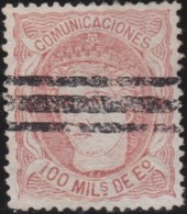 Espana      .    Yvert          .    108      .         O      .       Oblitéré  .  /   Cancelled - 1870-72 Reggenza