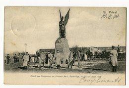 Ref 201 - SAINT-PRIVAT-LA-MONTAGNE - Besuch Des Kronprinzen Am Denkmal I. Garde-Regt. Au Fuss Im März 1902 - Verso - Autres Communes