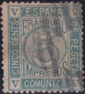 Espana      .    Yvert          .    116  ( 2 Scans )    .         O      .       Oblitéré  .  /   Cancelled - 1872-73 Regno: Amedeo I