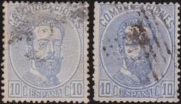 Espana      .    Yvert          .    119/120  (2 Scans)     .         O      .       Oblitéré  .  /   Cancelled - 1872-73 Reino: Amadeo I