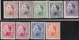Espana   .    Yvert  .      403/411       .      *       .       Neuf Avec Gomme  .  /  .   Mint-hinged - 1889-1931 Königreich: Alphonse XIII.