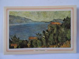 CARTE DOUBLE Représentant Un Tableau De Paul Cézanne  La Montagne Marseilleveyre Et L'ile Maire - Non Classificati