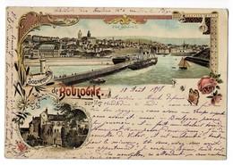 """BOULOGNE  62  Porte Royale ( Lithographie ) En 1898 """" Voir Dos """" - Boulogne Sur Mer"""