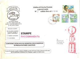 Busta Stampe Raccomandata Come Da Scansione ( 229 ) - 6. 1946-.. Repubblica