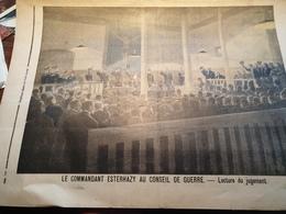 P.J 98 / AFFAIRE DREYFUS COMMANDANT ESTERHAZY  CONSEIL DE GUERRE - 1900 - 1949
