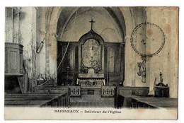 """BAIGNEAUX  33  Interieur De L' église En 1924  """" Voir Dos """" Tachée - France"""