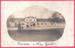 Cp Photo - Photo Montage - Vierzon - La Gare Vers Valenciennes - Cycliste - Animée - 1911 - Vierzon