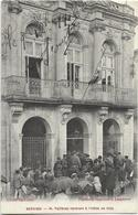 34 - SERVIAN - M. Fallières Rentrant à L'Hôtel De Ville. Belle Animation, CPA Ayant Circulé En 1916, BE. - France