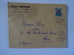 Lettre Etablissements MIRANDA Lièges Et Bouchons LA CALLE (Algérie) 1956 - Algerije (1962-...)