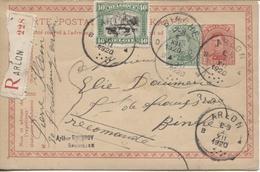 REF997/ Entier CP 56 + TP 137-143 En Recommandé C.Arlon 4/12/1920 > Binche C.d'arrivée Binche 5/12/1920 - Entiers Postaux