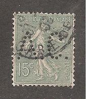 Perforé/perfin/lochung France No 130 A.C. Aubert Et Cie - Perforés