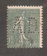 Perforé/perfin/lochung France No 130 A.D. Les Fils De A. Derôme - Perforés
