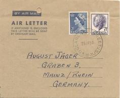 AUSTRALIA 1958 Air Mail REVESBY To MAINZ (Germany) - Storia Postale