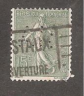 Perforé/perfin/lochung France No 130 AR A. Rivet Et Vaillant - Perforés
