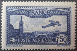 R1692/848 - 1930 - POSTE AERIENNE - AVION SURVOLANT MARSEILLE - N°6a Outremer NEUF** - Cote (2020) : 150,00 € - 1927-1959 Nuevos