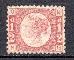 GRANDE BRETAGNE - 1870 - N° 49 - 1/2 D. Rouge Carminé - (Victoria) - Nuevos