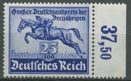 Deutsches Reich 1940 Das Blaue Band, Deutsches Derby 746 Rand Rechts Postfrisch - Germany