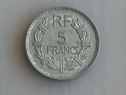 France 5 Francs LAVRILLIER, ALUMINIUM 1948 - France