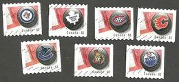 Sc. # 2662-68 NHL Team Logos Coil Set Used 2007 K195 - 1952-.... Règne D'Elizabeth II