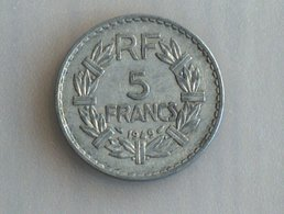 France 5 Francs LAVRILLIER, ALUMINIUM 1949 - France