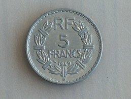 France 5 Francs LAVRILLIER, ALUMINIUM 1949 B - France